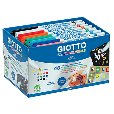 PENNARELLI GIOTTO DECOR MATERIALS SCHOOLPACK PZ.48 DA 4X12 COLORI