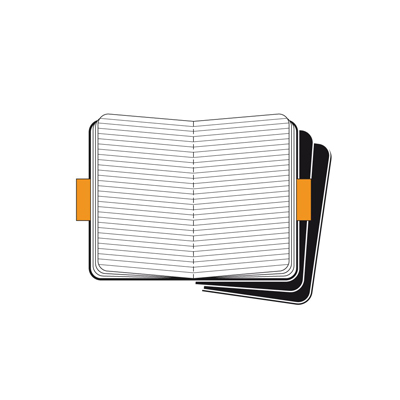 MOLESKINE SET 3 CAHIER POCKET KRAFT COVER IN CARTONCINO RIG.RIGHE