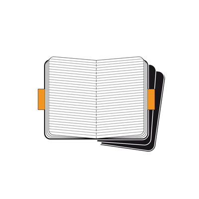 MOLESKINE SET 3 CAHIER LARGE KRAFT COVER IN CARTONCINO RIG.RIGHE