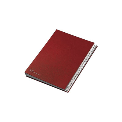CLASSIFICATORE ALFABETICO 24X34 ROSSO