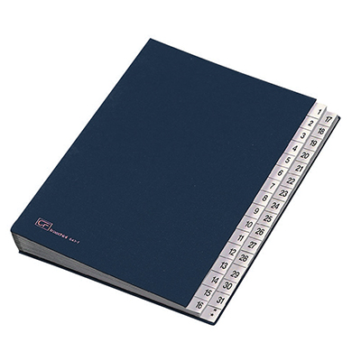 CLASSIFICATORE NUMERICO 1-31 24X34 BLU