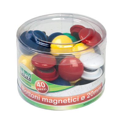 MAGNETI CALAMITATI D.20 PZ.40 COLORI ASSORTITI