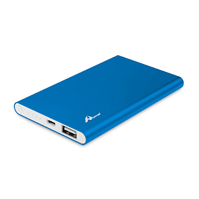 POWER BANK SLIM IN METALLO 5000 MAH BLU