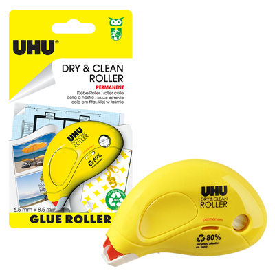 COLLA UHU ROLLER PERMANENTE DRY&CLEAN