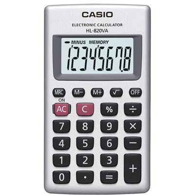 CALCOLATRICE TASCABILE CASIO HL820VA