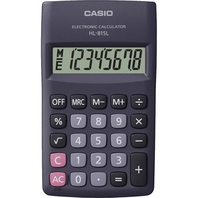 CALCOLATRICE TASCABILE CASIO HL815L