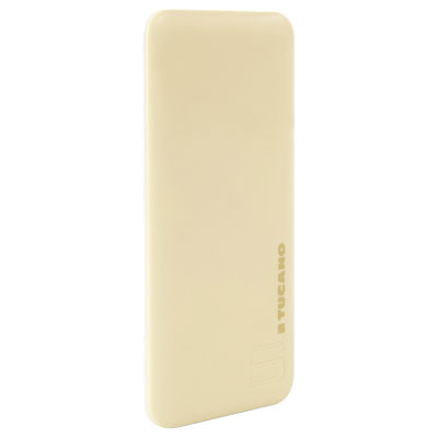 POWER BANK FLAT DA 6000 MAH GIALLO