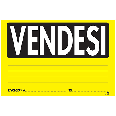 CARTELLO VENDESI FLUORESCENTE 23X32
