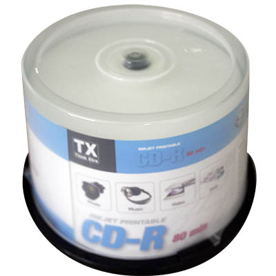 CD-R 80 MIN. 700 MB THINK XTRA PRINTABLE CAMPANA PZ.50