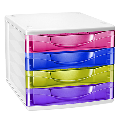 CASSETTIERA 4 CASSETI CEPPRO HAPPY CM. 36.8X30X26.5 MULTICOLOR