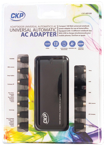 ADATTATORE DI ALIMENT. UNIVERS. AC/DC 70 WATT PER NOTEBOOK