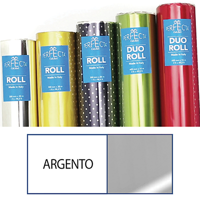 ROTOLO DUOROLL MM.600X15 MT LUCIDO ARGENTO