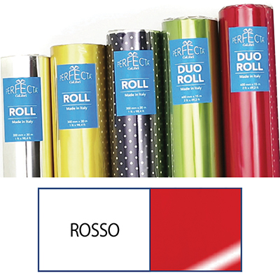 ROTOLO DUOROLL MM.600X15 MT LUCIDO ROSSO