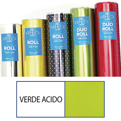 ROTOLO ROLL MM.300X30 MT OPACO VERDE ACIDO