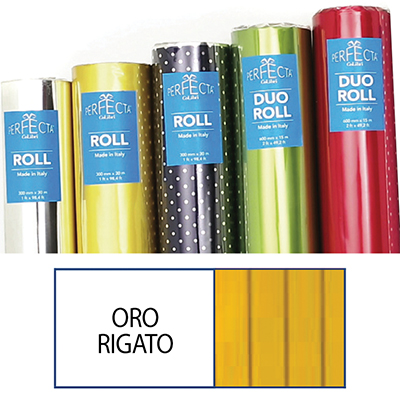 ROTOLO ROLL MM.300X30 MT RIGATO ORO