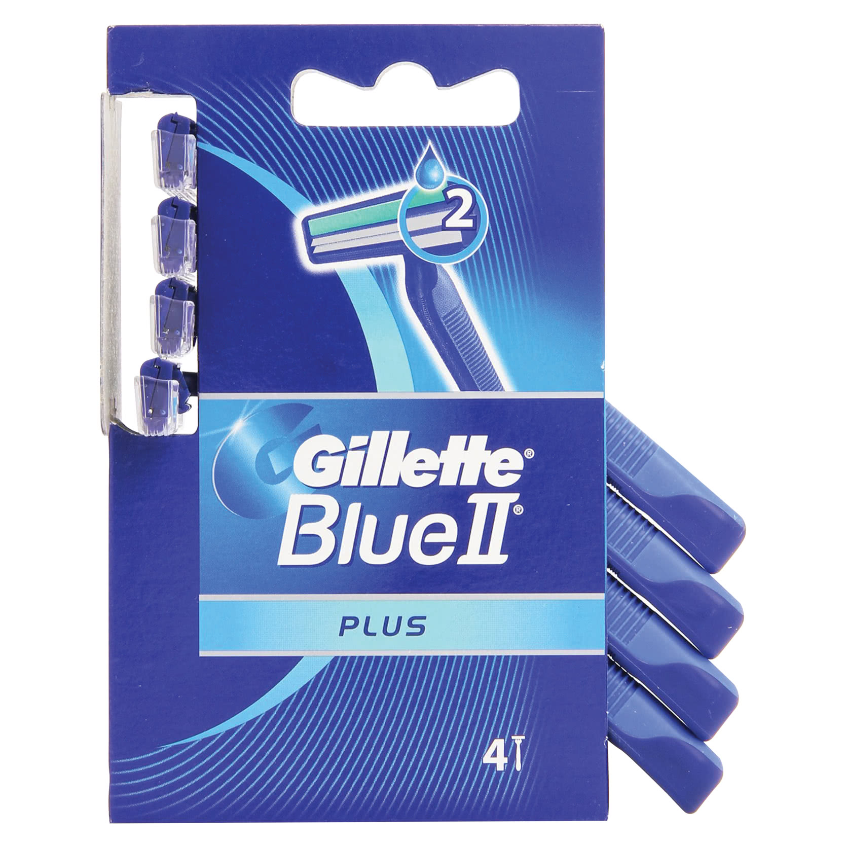 GILLETTE BLUE II USA E GETTA PLUS PZ.4
