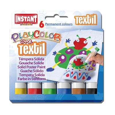 TEMPERA SOLIDA PLAYCOLOR TEXTIL ONE PZ.6 GR.10