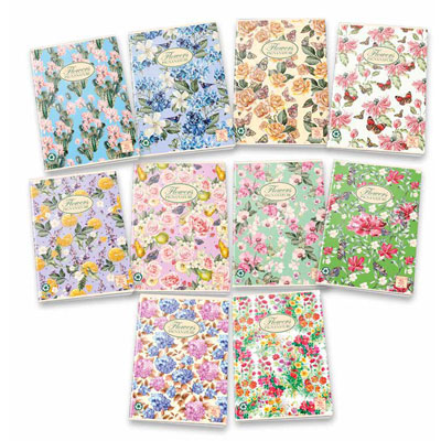 QUADERNO NATURE FLOWERS GR.80 FG.20+1 7