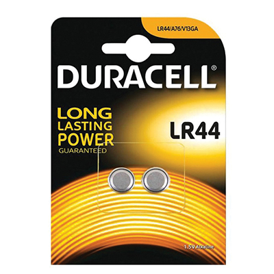 BATTERIA DURACELL PLUS POWER PASTIGLIA ALCALINA LR44 PZ.2