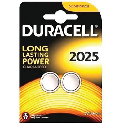 BL.2 BATTERIE DURACELL PLUS POWER PASTIGLIA LITIO DL 2025