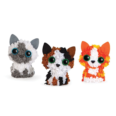 PLUSH CRAFT MINI GATTINI 3D SET DA 3