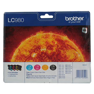 MULTIPACK BROTHER LC980VALBP 4 COLORI