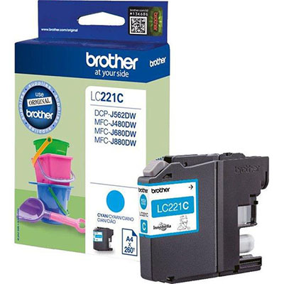 INK BROTHER LC221C CIANO